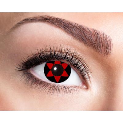 Sasukes Mangekyu Sharingan Mage World Exclusive Kontaktlinsen