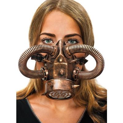 Steampunk kupfer Gasmaske