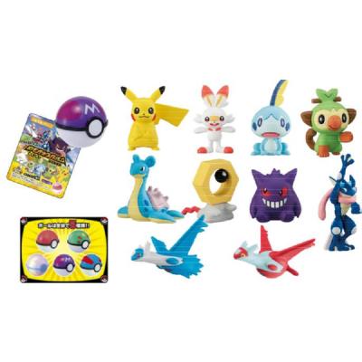 Pokemon Get Collection - Candy Our Friends 5 cm Zufalls-Figuren in verschiedenen Pokebällen