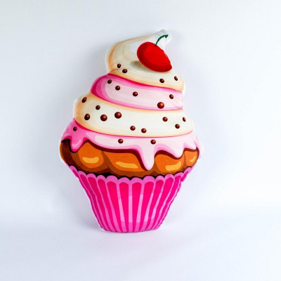 Cupcake Strawberry & Vanilla Kissen