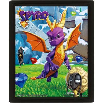 Spyro Playtime 26 x 20 cm 3D-Rahmenbild