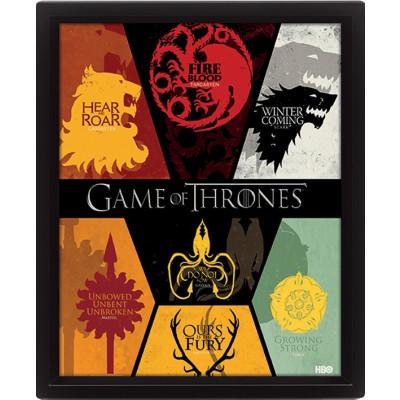 Game of Thrones 3D- Bild Wappen