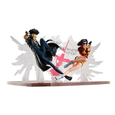 PREORDER ♦ Cowboy Bebop PVC Statuen 1/8 Spike Spiegel & Faye Valentine 1st GIG 20 cm Figur