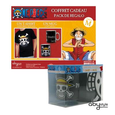 One Piece Geschenk-Box mit Tasse und T-Shirt in Größe L