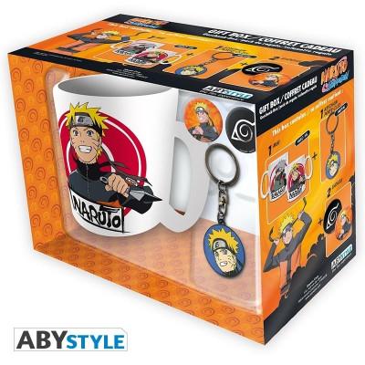 Naruto Shippuden Geschenk-Box mit Tasse Schlüsselanhänger und Buttons