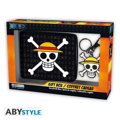 One Piece Skull Geschenk-Box mit Portmonee und Schlüsselanhänger
