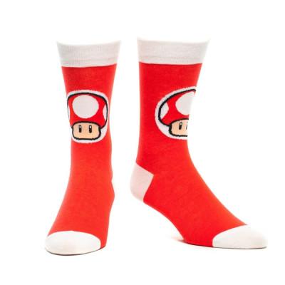 Nintendo Crew Mushroom Red Socken