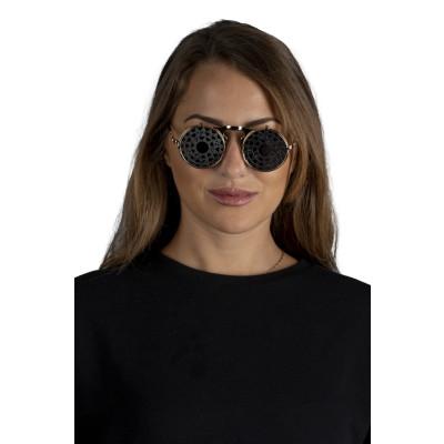 Sonnenbrille mit 2 Zahnrad-Gläsern