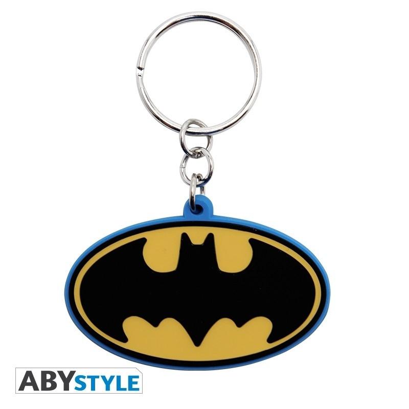 Dc Comics Batman Logo Gummi Schlüsselanhänger