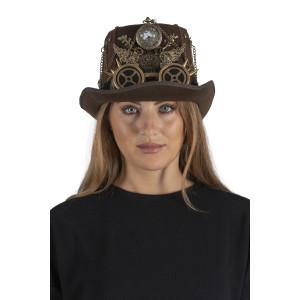 Steampunk Hut mit Taschenuhr