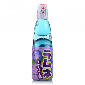 Japanische Limonade Ramune 200ml Flasche Geschmacksrichtung Blaubeere
