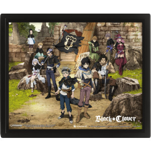 Black Clover Ruins 26 x 20 cm 3D Rahmenbild