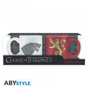 Game of Thrones Stark & Lannister 110ml Tassen-Set