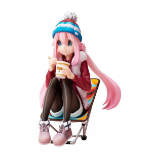 COLLECTOR ♦ Laid-Back Camp Premium Noodle Stopper PVC Statue 1/8 Nadeshiko Kagamihara 13 cm Figur