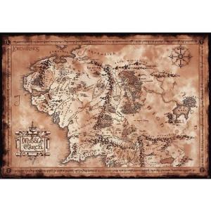 Herr der Ringe Landkarte Poster