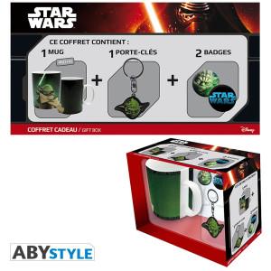 Star Wars Geschenkbox mit Tasse, Schlüsselanhänger und Buttons