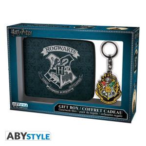 Harry Potter Hogwarts Geschenk-Box mit Portmonee und Schlüsselanhänger