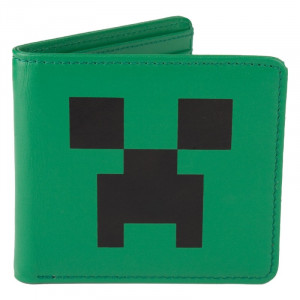 Minecraft Creeper Face Leder Portmonee