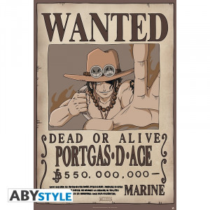 One Piece Ace Wanted 91,5x61cm Poster