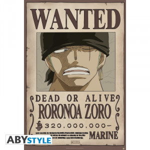One Piece Zorro Wanted 91,5x61cm Poster