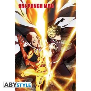 One Punch Man Saitama & Genos Poster