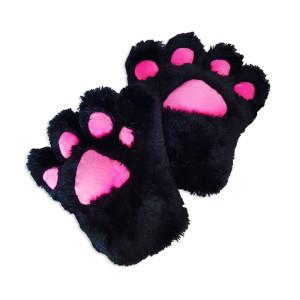 Catgirl Katzen Tatzen Paar (2 Cosplay Handschuhe schwarz)