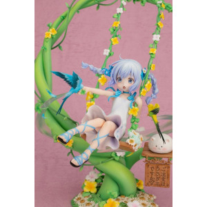 PREORDER ♦ Is the Order a Rabbit? PVC Statue 1/7 Chino Kafuu Flower Swing 29 cm Figur